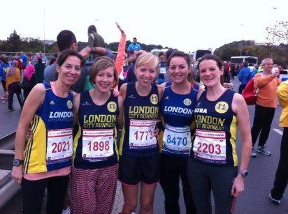 Stephanie with the London City Runners